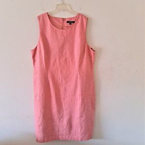 Chadwicks Peach Crew Neck Sleeveless Dress -Sze 18